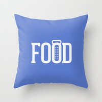 food Throw Pillows featuring food by Leseed