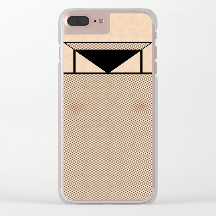 Fishnet Stockings and Black Knickers Clear iPhone Case