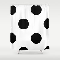 polka dot Shower Curtains featuring Polka Dot by Katy Martin