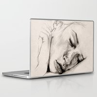 sleep Laptop & iPad Skins featuring SLEEP by Joelle Poulos