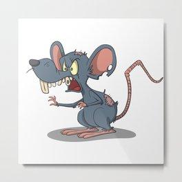 Scary zombie rat Metal Print