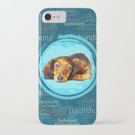 Cute Longhaired Dachshund Puppy iPhone Case