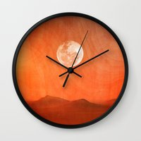 desert Wall Clocks featuring Desert by Viviana Gonzalez