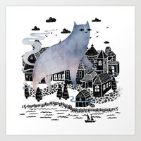 fog Art Prints featuring The Fog by littleclyde