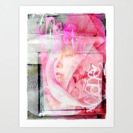 Pink Reveiled Art Print