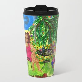 In the Garden With Rudy Travel Mug