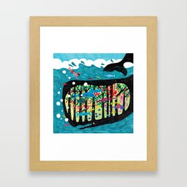 The underwater forest Framed Art Print