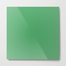 Emerald Green Scales Pattern Metal Print