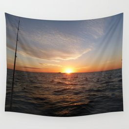 This is the life - Setting Sun , Hervey Bay Qld Wall Tapestry