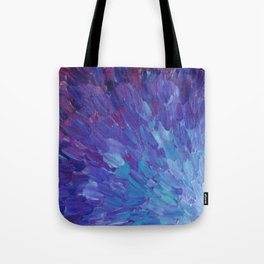 SCALES OF A DIFFERENT COLOR - Abstract Acrylic Painting Eggplant Sea Scales Ocean Waves Colorful Tote Bag
