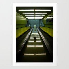 Neon Stairs Art Print