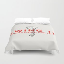 Swing it - Zombie Survival Tools Duvet Cover