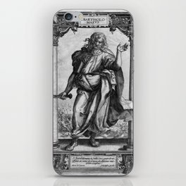 Saint Bartholomew Antique Engraving iPhone Skin