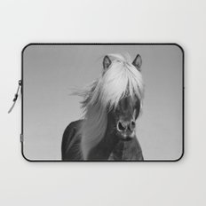 Portrait of a Horse in Scotish Highlands Laptop Sleeve