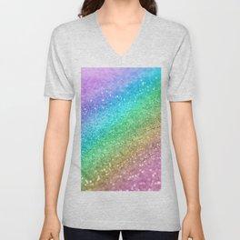 Rainbow Princess Glitter #1 (Photography) #shiny #decor #art #society6 Unisex V-Neck