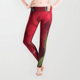 Red Gladiolas Leggings