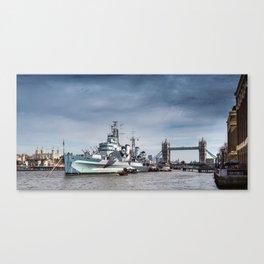 The Boat, Bridge & Tower Canvas Print