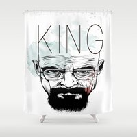 heisenberg Shower Curtains featuring Heisenberg by Forrest Wright
