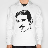 tesla Hoodies featuring nicola tesla by b & c