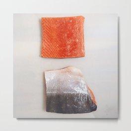 Healthy Fats | Wild-Caught Salmon Metal Print