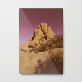 Fist of Rocks Under Pink Desert Sky Metal Print