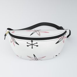 Atomic Era Space Age Pink White Fanny Pack