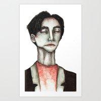 robert farkas Art Prints featuring Robert by zoe kayser