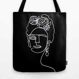 Frida Kahlo BW Tote Bag