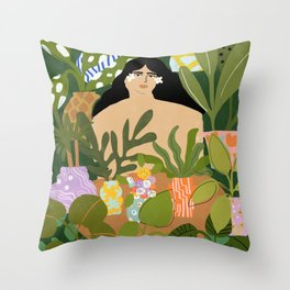 I Need More Plants Throw Pillow