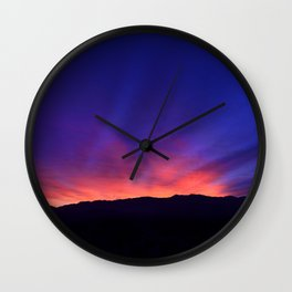 SW Mountain Sunrise - 6 Wall Clock