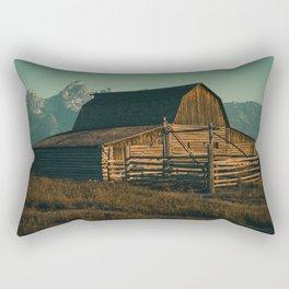 Wyoming High Country Barn Print Rectangular Pillow