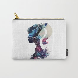 Silhouette Textured Portrait Carry-All Pouch
