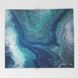 Ocean Rings Throw Blanket