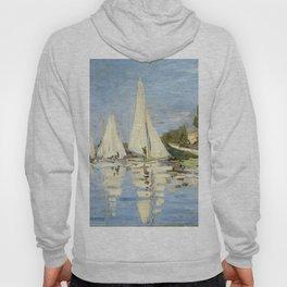 1872-Claude Monet-Regattas at Argenteuil-48 x 75 Hoody