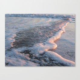 Sea Foam at Sunset Canvas Print