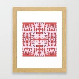 Kumo Shibori Coral Framed Art Print