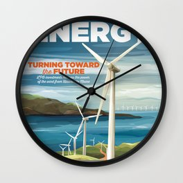 US Department of Energy LPO Poster - Wind Energy (2016) Wall Clock
