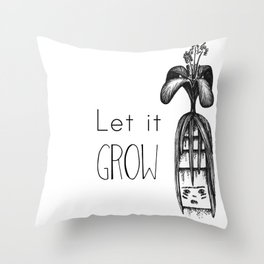 The seed in my head is growing Throw Pillow