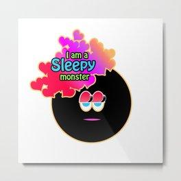 A Sleepy Monster Metal Print