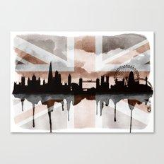 London Skyline 2 Tea Staines Canvas Print