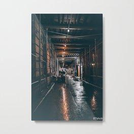 Dark Alleys Metal Print