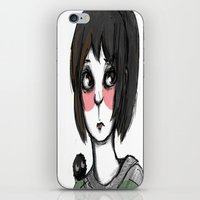 chihiro iPhone & iPod Skins featuring Chihiro, with a friend by Daytwah