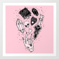witchcraft Art Prints featuring Witchcraft by lOll3