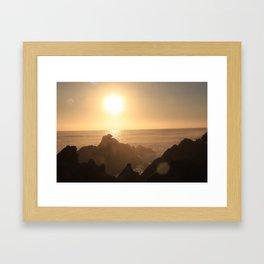Sunset at Gordons Bay, South Africa Framed Art Print