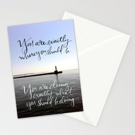 You Are Exactly Where You Should Be: Lighthouse Stationery Cards