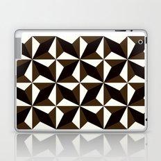 Black brown tile pattern #1 Laptop & iPad Skin