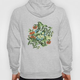 Butterfly garden in yellow Hoody