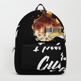 i play guitar therefore i am Backpack