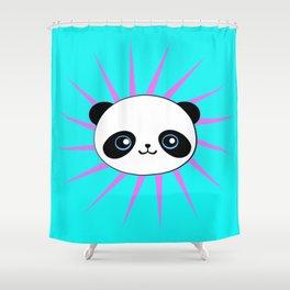 Wild Rockstar Panda Shower Curtain