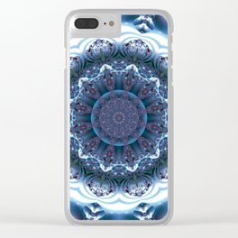 Snow Mandala Clear iPhone Case